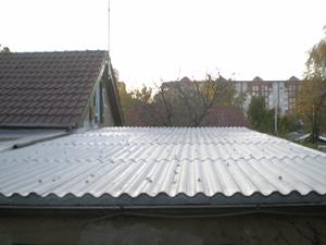 Gut bekannt Wellplatten Faserzement Eternitdach abdichten streichen sanieren FR69