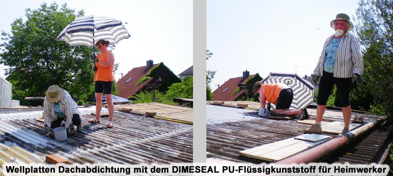 Extrem Wellplatten Faserzement Eternitdach abdichten streichen sanieren WC56